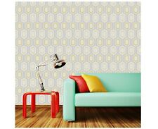 New Coloroll - In Yellow - Mortimer - Geometric Glitter - Luxury Wallpaper M1025