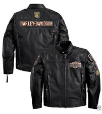 SUMMER JACKET COAT GENUINE LEATHER HARLEY DAVIDSON SIZE XL **STOCK** SALE -25%