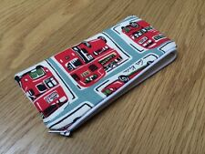Handmade With Cath Kidston London Buses Fabric - Pencil Make-Up Glasses Case
