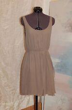 Alice + Olivia Gray Silk Sleeveless Dress Size S/P