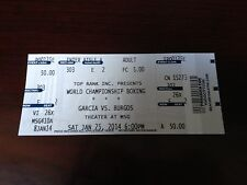 BOXING TICKET STUB GARCIA VS BURGOS *JENNINGS VS SZPILKA  JAN 25,2014