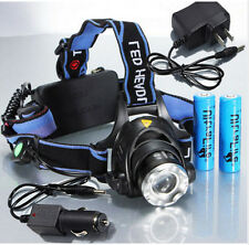 2000Lm Zoomable CREE XM-L T6 LED HeadLamp Bicycle Bike Torch Headlight 18650