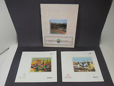 LOT 2 MENU RAM ROYAL AIR MAROC AIRLINES MOROCCO AND 1 MOROCCAN TOURISM BROCHURE