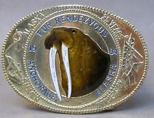 1984 Anchorage Alaska FUR RENDEZVOUS fancy Belt Buckle WALRUS