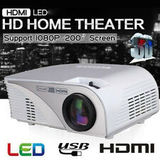 5000 Lumens 3D 1080P Full HD LED Projector HDMI USB AV VGA TV Home Video Theater