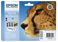 Genuine Epson T0715 Ink Cartridges for Stylus DX8450 (T0711 T0712 T0713 T0714)