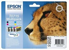 Genuine Epson T0715 Ink Cartridges for Stylus SX215 (T0711 T0712 T0713 T0714)