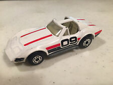 VINTAGE MATCHBOX SUPERFAST CHEVROLET CORVETTE T-TOP WHITE W/09 DESIGN VARIANT