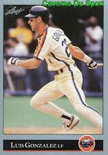 160   LUIS GONZALEZ    HOUSTON ASTROS BASEBALL CARD LEAF 1992