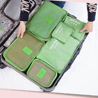 6p/sets Travel Storage Bags Packing Cubes Luggage Organizers Compression Pouches