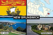SOUVENIR FRIDGE MAGNET of PROVINCE OF NEW BRUNSWICK CANADA