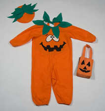 UNBOOLIEVABLE BABY BOYS GIRLS SIZE 1-2  PUMPKIN HALLOWEEN COSTUME HAT & BAG 1 2