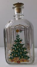 Holmegaard Christmas Bottle lovely decorated with Christmas tree.1985.