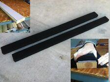 (2) HEAVY DUTY BLACK 8' Boat Trailer Bunk Boards 2x4 - w/ Carpet & Side Padding