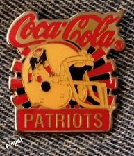 New England Patriots Pin~NFL~Football~80's vintage~Coca Cola Coke~New Old Stock