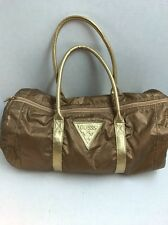 GUESS Women's Gold Bronze Duffel Bag Handbag Shoulder Bag