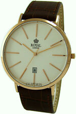 ROYAL LONDON Herrenuhr Edelstahl IP rose gold classic gents dress watch Ø42,5