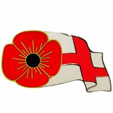 England Flag Poppy Pin Badge