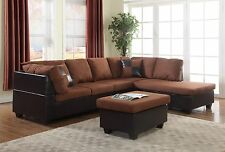 Sectional Sofa Furniture Microfiber Sectional Couch Living Room Set 3 Color