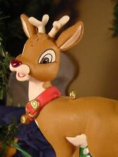 HALLMARK RUDOLPH the RED NOSED REINDEER CHRISTMAS ORNAMENT His NOSE LIGHTS UP !