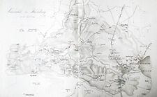 1850 Kolding Dänemark Schleswig-Holsteinische Erhebung Kupferstich-Plan