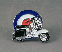 Mod Accessorised Scooter on Roudel/Target/ Quality Enamel Lapel Pin Badge