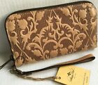 PATRICIA NASH Folklore Artisan Leather Clutch Wallet/BISCAY/SAND/$99/NWT