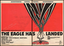 THE EAGLE HAS LANDED__Original 1977 early Trade AD promo / poster__MICHAEL CAINE