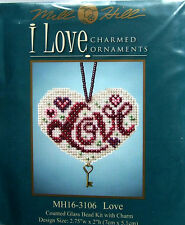 "Mill Hill point de croix perles Kit ""amour"" CHARMED Ornament 16-3106"