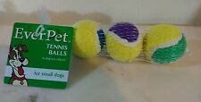 Dog Toy Tennis balls pack for small dogs by EverPet 3 piece set. New in package