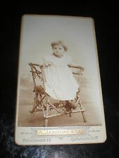Cdv photograph girl chair by Jandorf at Berlin Germany 1890s Rf 507(20)