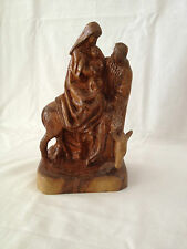 Joseph, Mary, & Baby Jesus Carved Olive Wood Figurine/Statues