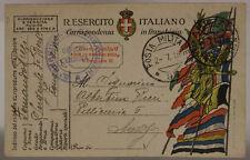 POSTA MILITARE 97 2.7.1918 FRANCHIGIA TIMBRO 3° REGGIMENTO BERSAGLIERI #XP443C