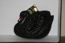 Black Swan  Old World Christmas glass ornament