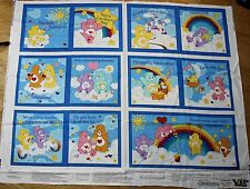 Care Bears Fabric Book Panel VIP Cranston 2004 Care-A-Lot Castle Baby Gift!