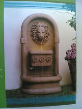 NIB: Nice Outdoor Lion Head Floor WATER FOUNTAIN