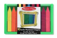 Melissa & Doug - 10 Jumbo Non-Toxic, Fluorescent Crayons for Toddlers 4153