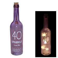 """"""" 40 Sparkle essere fabuolus """"STARLIGHT BATTERIA illuminare Bottiglia - 40th regalo di compleanno"""