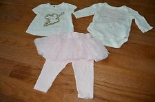 BABY GAP INFANT LEGGING TUTU TULLE GORGEOUS LIKE MOMMY GIRLS OUTFIT 3 6 MONTHS