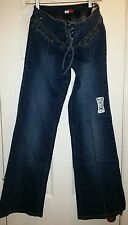 Tommy Hilfiger Jeans Tommy Girl Size 9 Hoba Stretch Tie Front Flared NWT'S