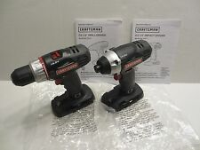 """Craftsman C3 19.2 Volt 1/2"""" Drill & 1/4"""" Impact Driver (Tools Only) *NEW*"""