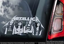 Metallica - Car Window Sticker - Heavy Metal Rock Music Original Members - TYP4