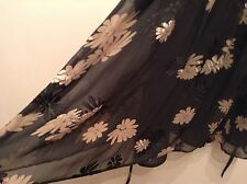 �� Principle �� Size 16 Floral Silk / Viscose Dress Black / Brown Holiday