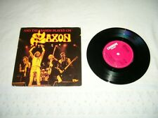 SAXON --- rare original 1981 AND THE BANDS PLAYED ON 7'', UK 3-Track!!!