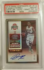 2015 Panini Contenders D'Angelo Russell RC White Jersey Draft Ticket PSA 10 WOW!