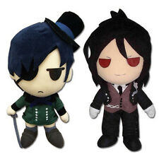 Official Ciel (GE-8955) & Sebastian (GE-8954) Set of 2 Black Butler Plush Dolls
