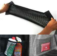 40cm * 25cm Trunk Seat Back Elastic String Net Storage Bag Pocket For BMW E36 E4