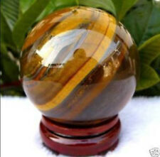 AAA 40mm Natural Tiger's Eye quartz crystal sphere ball