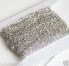 10ft of Antiqued Silver Plated Flat Cable Chain 3X2.5mm