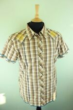 VTG Wrangler Checked Western Cowboy Embroided Pearl Snap Fastener Shirt XL